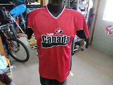 Team Canada red Mighty Mac Sports shirt red size Large 100% polyester #15225