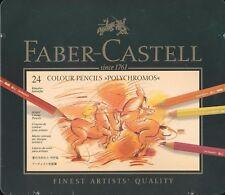 Faber-Castell Polychromos Pencil Set, 24 Tin