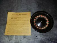 Ancienne ROULETTE CASINO Bakélite 14 cm  + 2 boules acier + règles