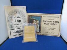 Wonderful Vintage Paper Lot - Advertising for Banks, USDA