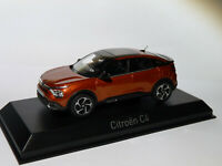 Citroën C4  de 2020 orange au 1/43 de NOREV 155445