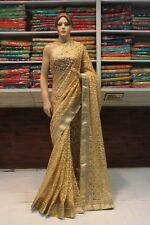 Bollywood Indian Zari & Thread Work Designer Net Saree Sari Bridal Party Dress