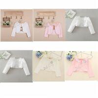 Ivory Pink Bolero Shrug Short Cardigan for Bridesmaids/Flower Girls and Parties