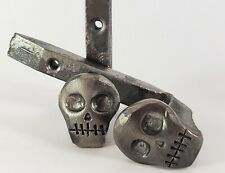 2 Skull Railroad Spike Hooks | Halloween Scary Horror Decorations | Coat Hanger
