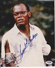 SAMUEL L. JACKSON Signed DIE HARD 8 x10 PHOTO with PSA/DNA COA