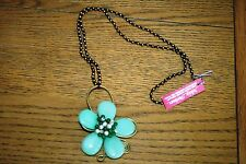 NEW&TAGS DESIGNER FLOWER NECKLACE lagenlook boho quirky long pendant unusual