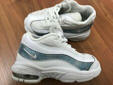 Boys Girls BABY WHITE NIKE AIR MAX 95 Trainers (uk6.5) *GREAT COND*