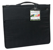 A2 CUSHIONED RING BINDER ARTIST STORAGE PORTFOLIO CASE & 3 ACID FREE SLEEVES
