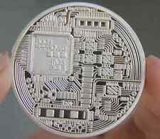 Silver Plated Iron Art Collectible Gift Coin Virtual Money Bitcoin Souvenir ILK