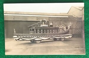 NORWICH    CORONATION    FLOAT    1937    RP    SWAINS VINTAGE  POSTCARD