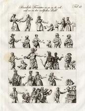 Antique Print-Costume-Education-M usic-Czech-1844