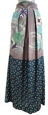 NEW, ETRO PRINTED SILK LONG SKIRT, 42, $995