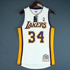 100% Authentic Shaquille O'Neal 03 04 Lakers Mitchell Ness Jersey Size 36 S kobe