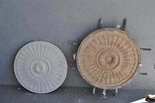 Moule ancien d'atelier de plâtrier staffeur - rosace motifs géométrique Art déco