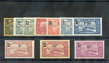 GUADELOUPE Sc 86-95(YT 89-98)**F-VF NH 1924-5 SURCHARGE SET $180