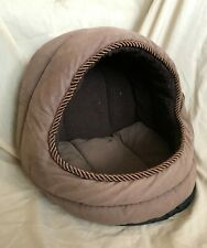 Cat basket/bed - brown, plush by GP (machine washable)