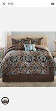7 Piece King Size Comforter Set Elegant Bedding Bedspread Pillow Shams Bed