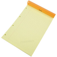 Set of 3 Rhodia A4 Legal Pads Yellow Feint Ruled Punched Paper Notepad Memo Book