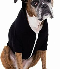 American Apparel Dog Sweater Black Size Small S Solid Fleece Full-Zip $22- 579