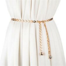 Belt Gold Silver Metal Chains Link G Women Hip High Waist Dressy Fashion Narrow