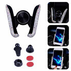 Auto Car Phone Holder Dashboard Stand Crystal Bling Mount Girl Interior Accessoy