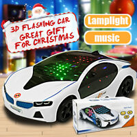 3D Toys Car LED Car Music Flashing Lighting Car Vehicle for Boys Kids Toy Gift❤️