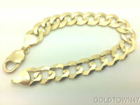 Solid 14k Yellow Gold Comfort Cuban Curb 8.2mm wide Heavy Men's Chain