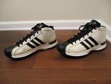 Used Worn Size 12 Adidas Pro Model Shoes Ivory, White, Black
