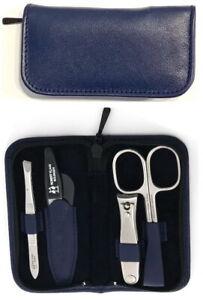 Case Made IN Solingen robert klaas Leather Blue Stainless Steel Manicure Set
