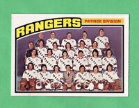 1976-77 OPC O PEE CHEE  # 143 Rangers Team nrmnt-mt