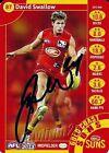 ✺Signed✺ 2013 GOLD COAST SUNS AFL Card DAVID SWALLOW