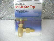R134A to R12 Top Mount Can Taper with Shut-Off Valve 1/2 ACME TO 1/4 FLARE TUBE