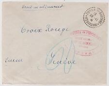 1941 France Concentration Internment Camp de Recebedou Prisoner Cover Red Cross