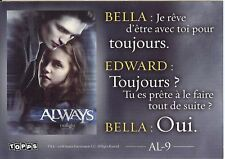Carte TWILIGHT Fascination TOPPS Puzzle N° AL-9