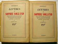 DIDEROT/LETTRES A SOPHIE VOLLAND/NRF/1938/2 VOLS