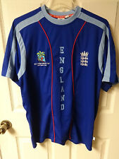 Vintage England ICC Cricket World Cup 2007 Blue Jersey/Shirt Adult Size Medium