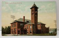 York Pennsylvania Royal Enging House Fire Department Postcard B23