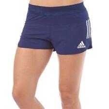 Adidas para mujer Adizero Takumi Split 3 que ejecutan Pantalones Cortos, Azul, Reino Unido 10 UE 36, BNWT