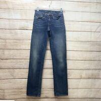 Levis Women's Size 28 Bold Curve Straight Leg Low Rise Jeans Blue Five Pocket
