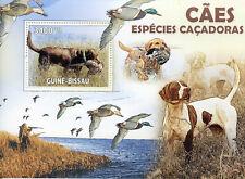 Guinea-Bissau Hunting Dogs 2010 MNH Dog Ducks 1v S/S