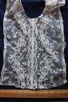 French Antique Lace Front & Neck Piece c1910~Bridal, Dolls