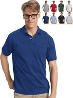Hanes Men's Pocket Polo 0504 -- BUY TWO GET THIRD ONE FREE