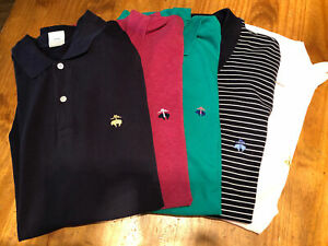 (5) Lot of Five Brooks Brothers Large Slim Fit Performance Polo Golf SS Shirt