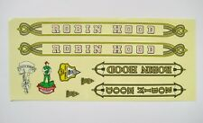Vintage Bicycle Bike Robin Hood Sticker Decals Set