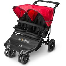 out N About Little Nipper Double Stroller Carrycot (poppy Red) Twin Pushchair