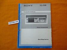 Service MANUAL Sony TC fx6 tedesco servizio clienti istruzioni riparazione schema elettrico