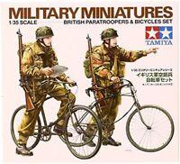 TAMIYA 1/35 British Paratroopers & bicycle set Model Kit NEW from Japan