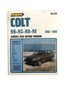 Mitsubishi Colt 1982-1990 RB/RC/RD/RE Gregorys Service Repair Manual AUS Book229