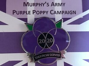 💜Murphy's Army Purple Poppy Campaign 2020 Pin Badge💜