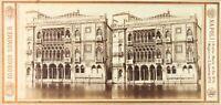 Italia Venezia Palazzo Cavalli Foto G.Sommer, Stereo Albumina PL62L4